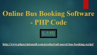 Online Bus Booking Software | PHP code