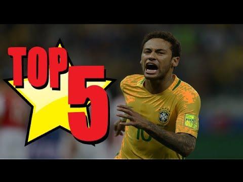 Os 5 gols mais bonitos de Neymar pela Seleção Brasileira - Esporte Espetacular (16/10/2016)