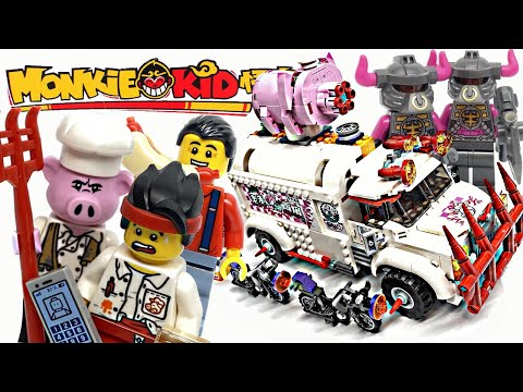 LEGO Monkie Kid Pigsy's Food Truck Review! 2020 Set 80009!