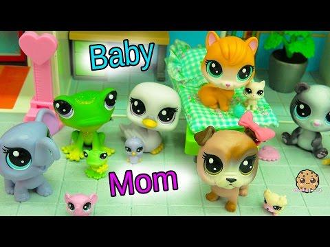 New Littlest Pet Shop Mom & Newborn Baby Sets - Mommies + Babies at Hospital