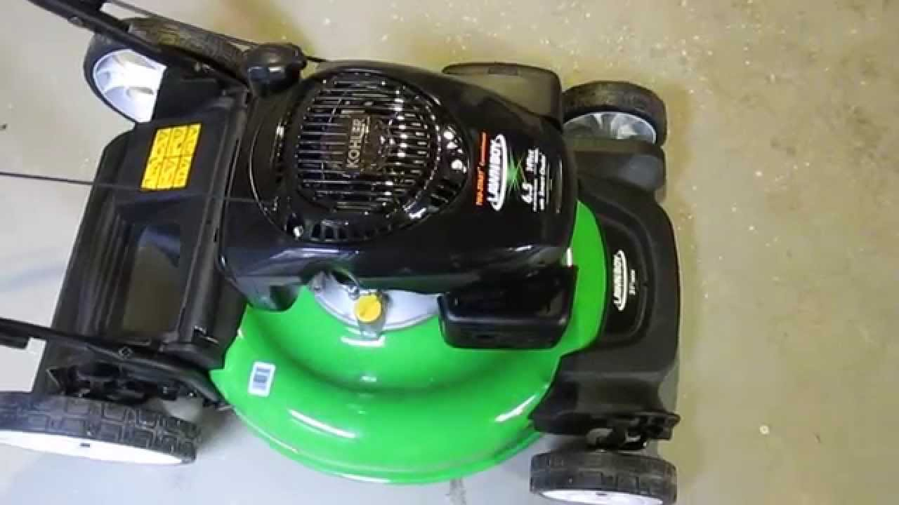 small resolution of kohler high wheel push gas walk behind lawn mower youtube