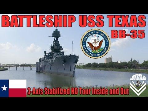 US Navy Battleship USS Texas BB-35 / DJI Osmo HD Tour Inside And Out