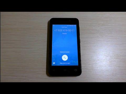 DIGMA Linx Alfa 3G Incoming Call