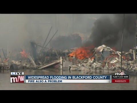 Fire, flood keeping emergency crews busy in Hartford City