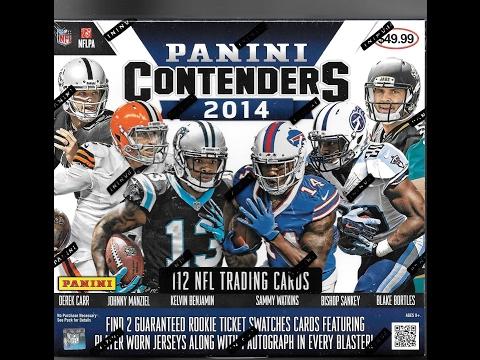 2014 Panini Contenders Football Super Blaster Box Break 3 Hits