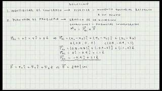 Ejercicio Aplicacion Momento Respecto a un Punto - Estatica -  Mecanica Vectorial - Video 051