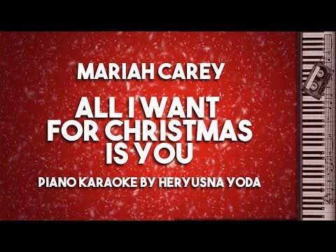 All I Want For Christmas Is You (Piano Karaoke with Lyrics) by Mariah Carey