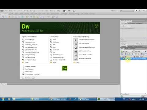How To Create A New Php Project Using Dreamweaver