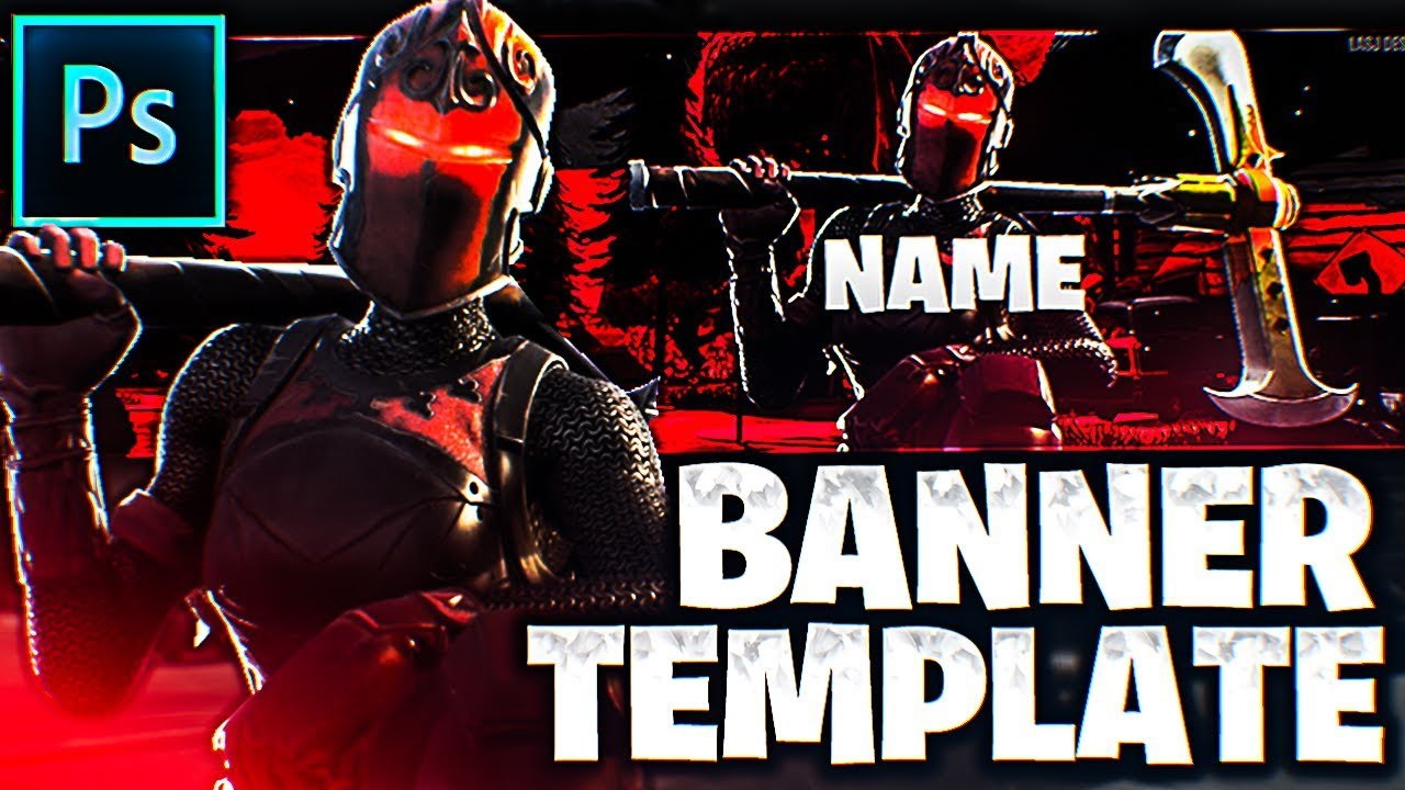 Red Knight Banner Template Fortnite Photoshop Youtube