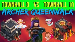 V - DAY Special | How to control your QUEEN | CLASH OF CLANS | Th9 vs Th10 | HD