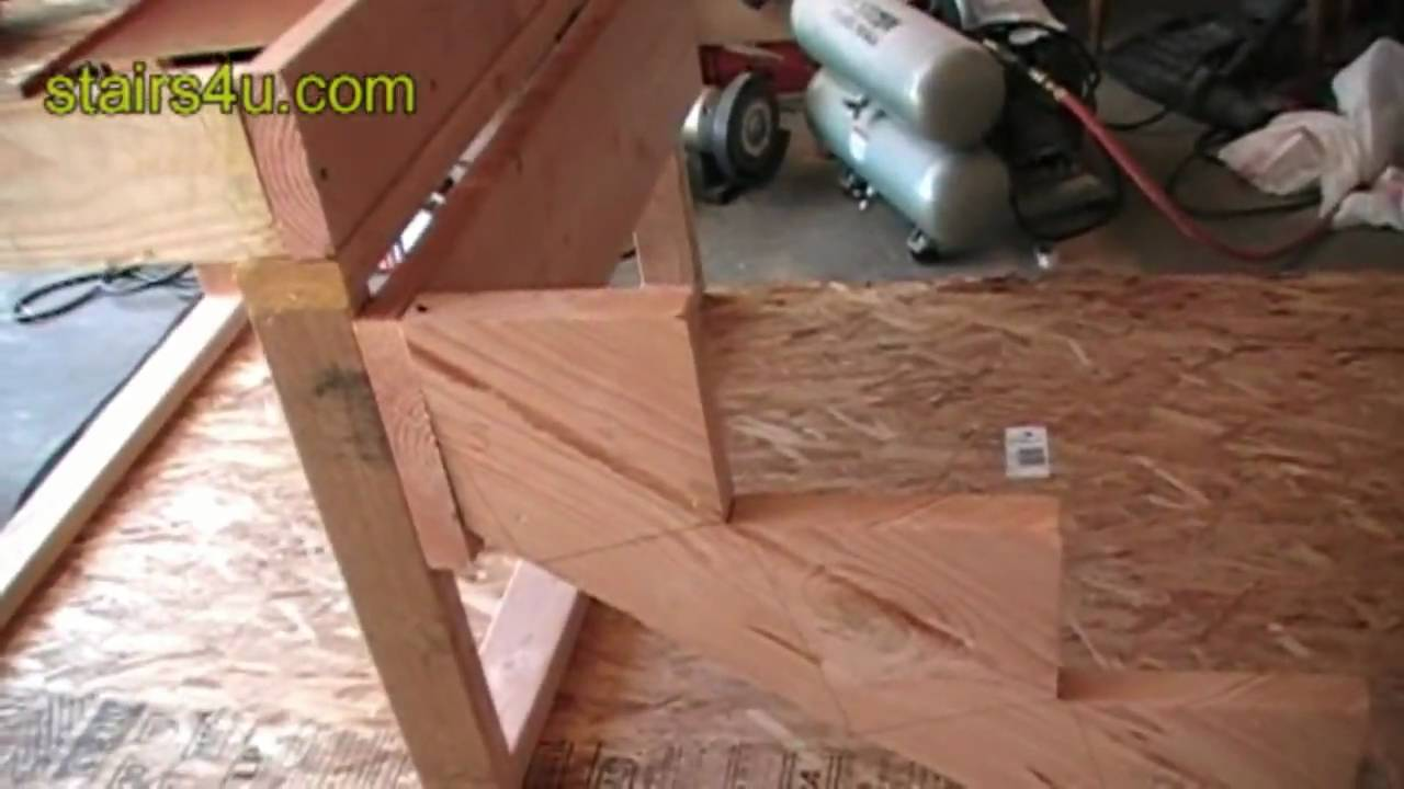 Stringer And Stair Ledger Attachment Construction Video