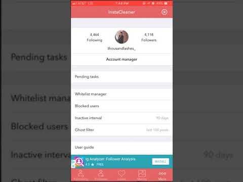 Cleaner app for Instagram