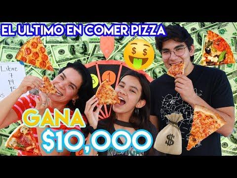 EL ULTIMO en DEJAR de COMER PIZZA Gana $10,000.00   TV Ana Emilia