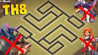 New TH8 War Base 2018 | Anti 3 Star + Replays Proof| Clash of Clans