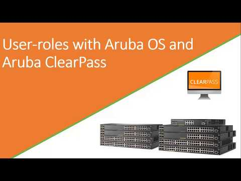 User roles on ArubaOS and ClearPass