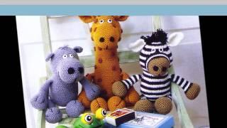 Забавные игрушки   Вязание крючком  для детей(Забавные игрушки-зверюшки вязаные крючком можно разместить в детской и создать таким образом мини -зоопарк..., 2015-04-14T15:01:30.000Z)