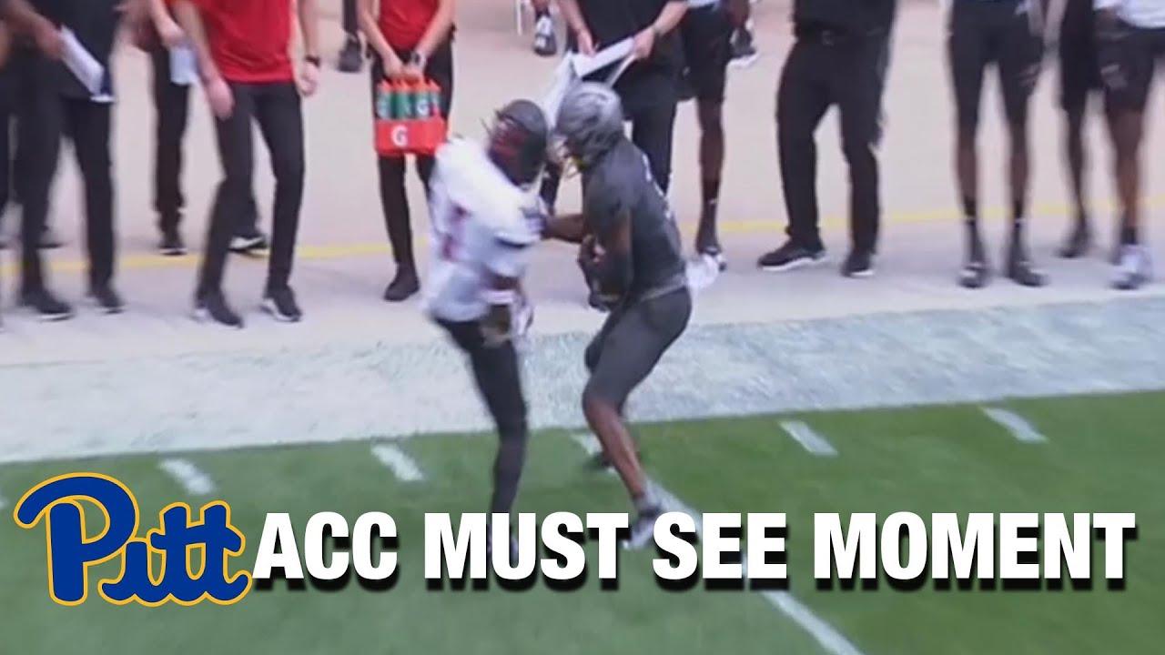 Pitt's Jordan Addison's Insane Sideline Catch | ACC Must See Moment