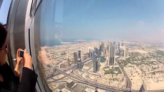 Burj Khalifa ... Floor 124....overlook.. DUBAI.........HD