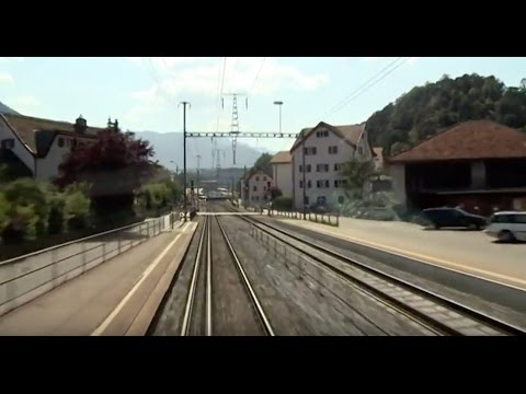 Cabride in Switzerland - at Glacier Express: Chur - Tiefencastel