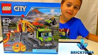 LEGO City Volcano Crawler Set 60122 Speed Build and Review