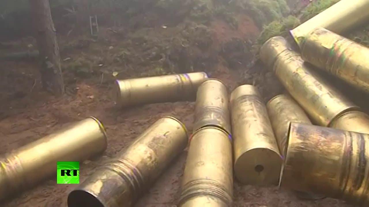 Действия расчётов артиллерии и экипажей авиации в рамках учений «Запад-2017»