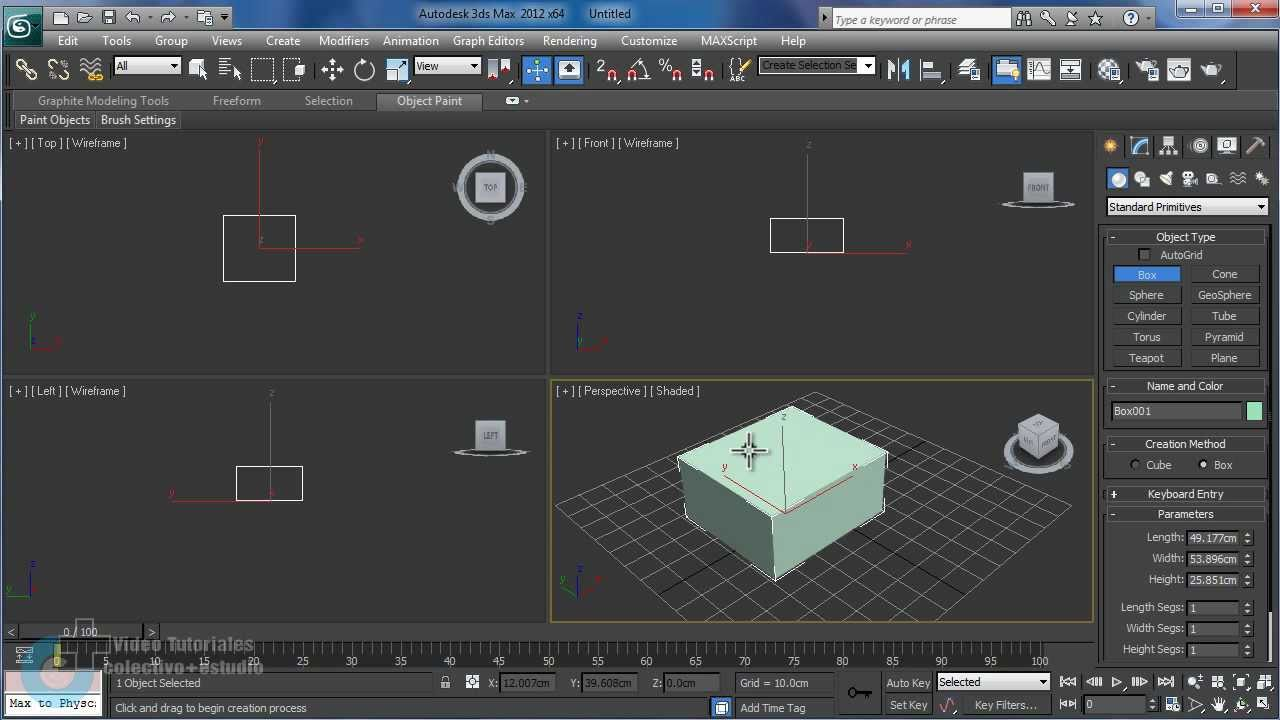 Video 1 interfaz gr fica 3d max 2012 youtube for Programas de arquitectura 3d