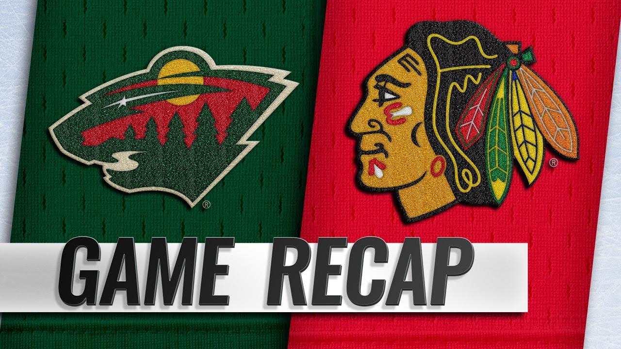 wholesale dealer 12d4b db539 Kane nets hat trick as Blackhawks roll by Wild, 5-2