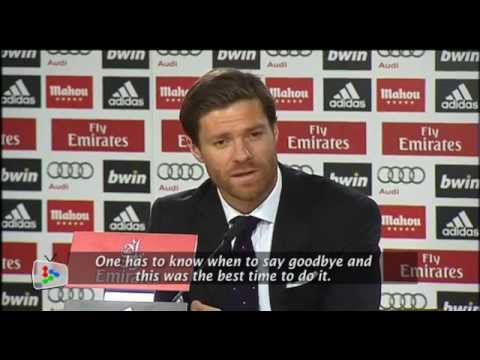 Xabi Alonso bids farewell to Real Madrid after Bayern deal