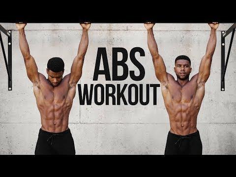 5 Min. Pullup Bar ABS Workout - Follow Along