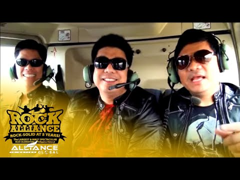 """AIM GLOBAL 5th Anniversary """"ROCK ALLIANCE""""  - Helicopter Entrance"""