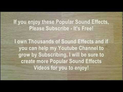 Popular Sound Effects - Part One - 50 Of The Most Popular Sound FX (SFX,  Noise, Effect)