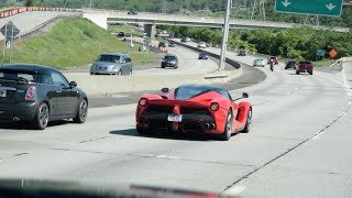 LaFerrari LOUD Startup & Driving on Highway