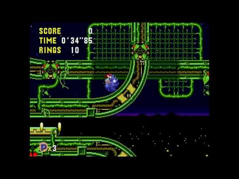 Sonic CD (J) - Stardust Speedway 1 All time zones