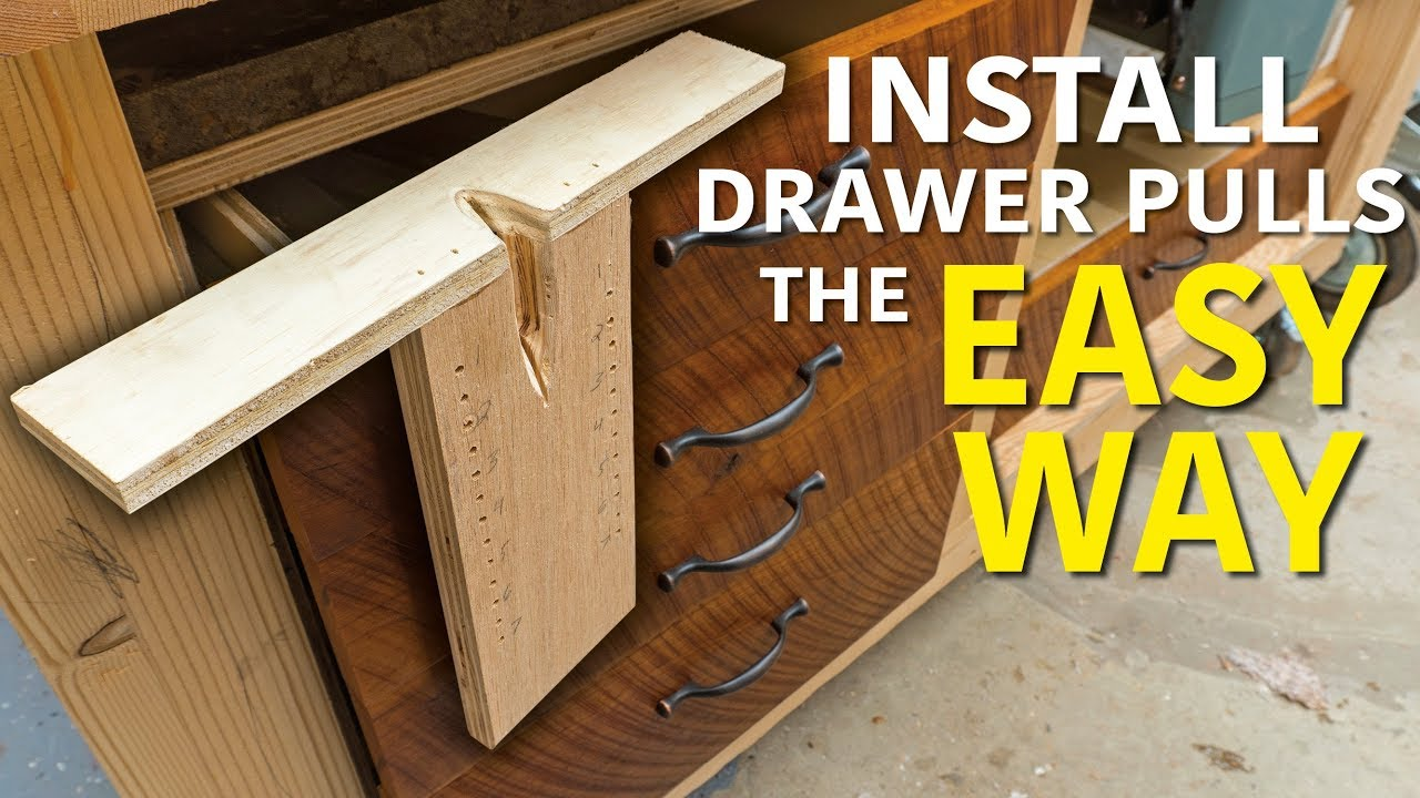 diy drawer pull jig youtube. Black Bedroom Furniture Sets. Home Design Ideas