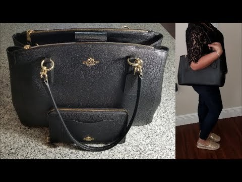 a6170352dc COACH Cross Grain Christine Carry All Handbag | REVIEW - YouTube