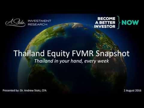Thailand Equity FVMR Snapshot August 2016