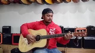 Flanella - Aku bisa | Cover by #dennystunt | Review Gitar akustik elektrik Nohman TERBAIK