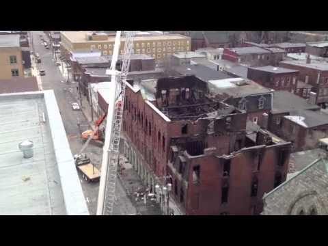 Demolition Of Charlotte Street Fire Scene