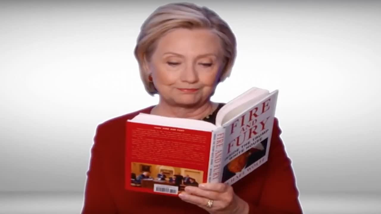 Download Hillary Clinton reads from 'Fire and Fury' at Grammys - News 247