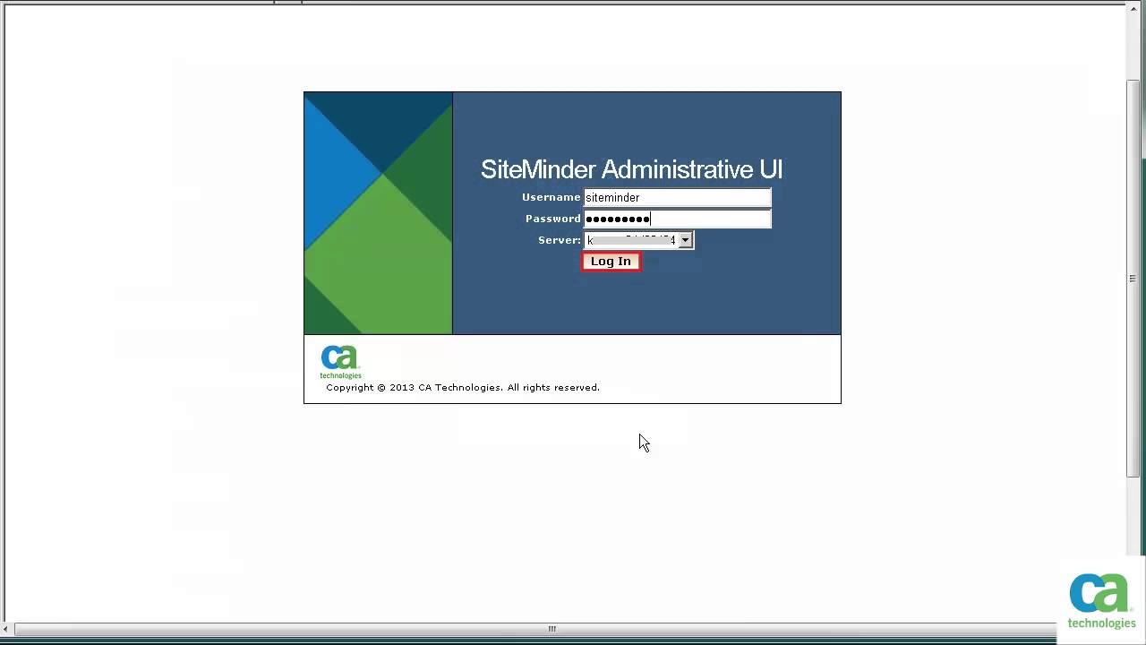 Configuring CA Single Sign On (formerly Known As CA SiteMinder®) For CA Service  Desk Manager   YouTube