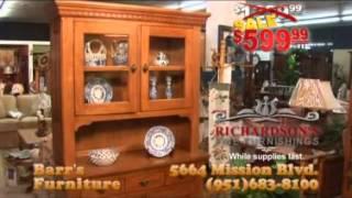 Barrs Furniture Richardson Oak Lighted Hutch