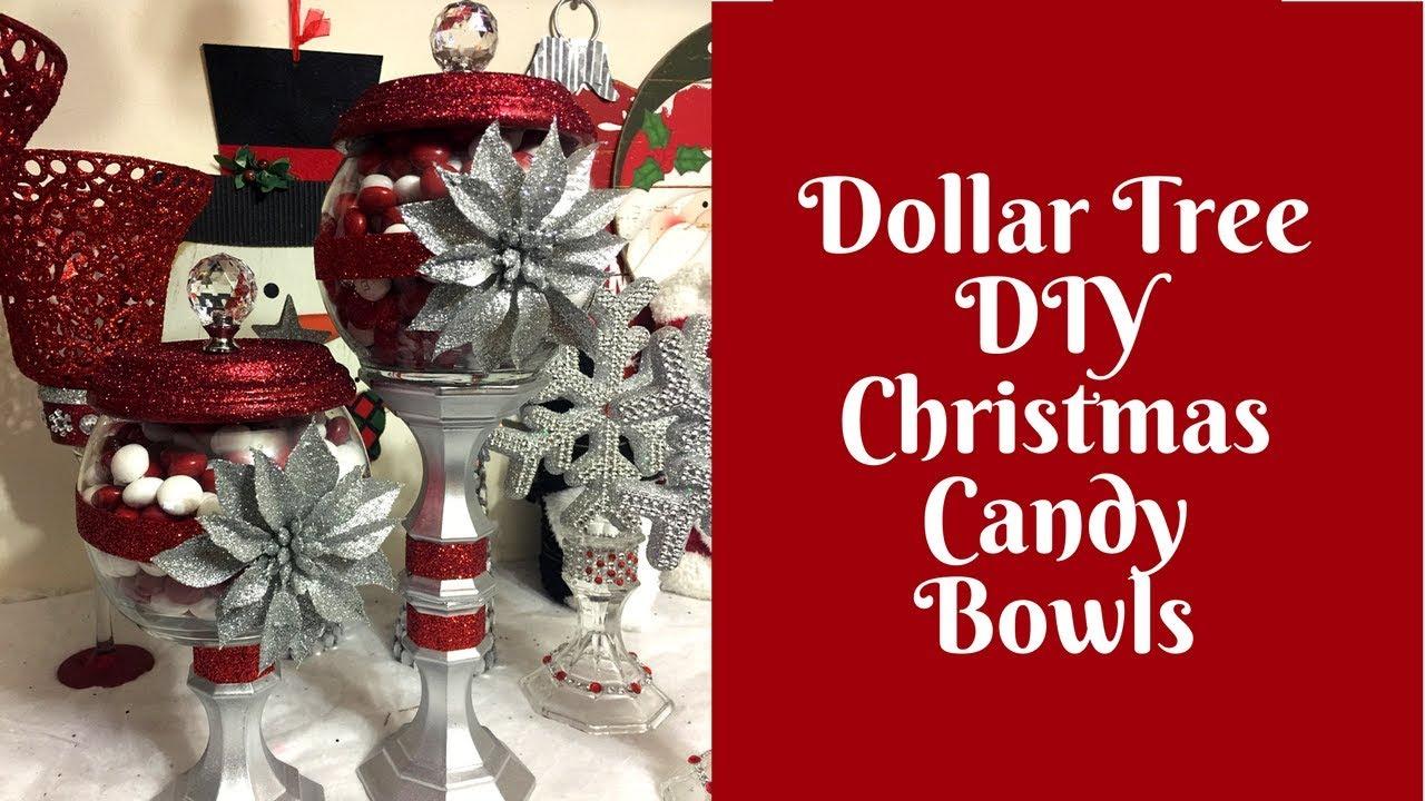 Christmas Crafts Dollar Tree Diy Candy Bowls Youtube