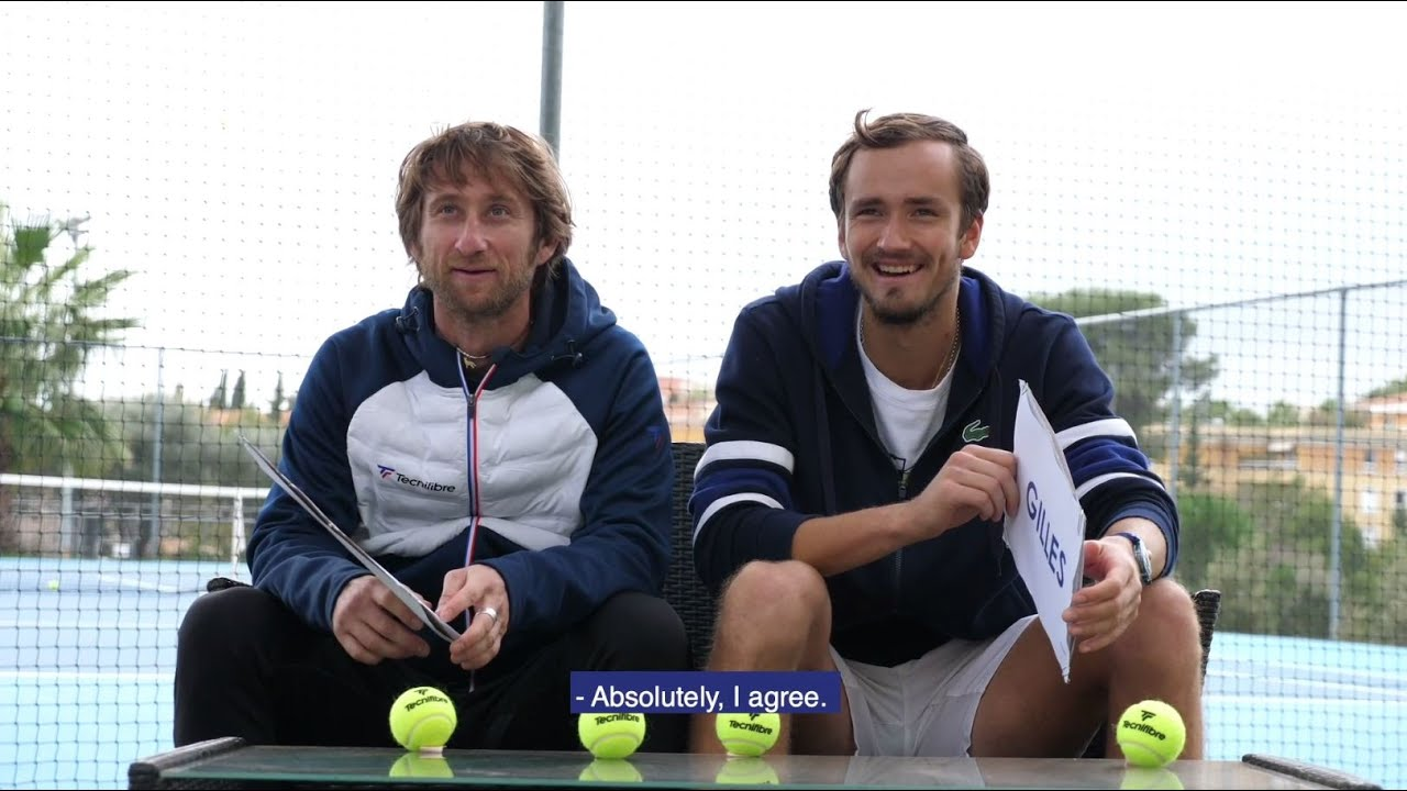 Daniil Medvedev and his coach Gilles Cervara Interview ...