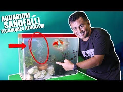 Aquarium SAND FALL - TECHNIQUES REVEALED!!