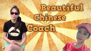 Beautiful Chinese coach - Yangyang's table tennis lessons