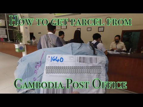 How to get parcel from Cambodia Post Office. របៀបយកបញ្ញេីពីប្រៃសណីយ៏កម្ពុជា || DAVID THACH