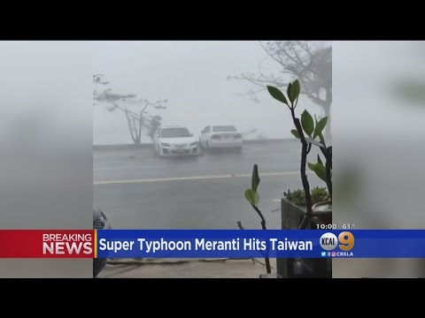 Super Typhoon Meranti hits Taiwan