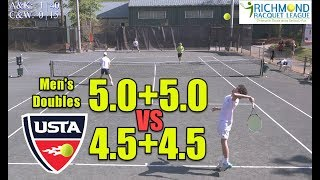 NTRP 5.0 (UTR-10) Tennis Highlights - Andrew/Kosta(5.0) vs Cary/Will(4.5)