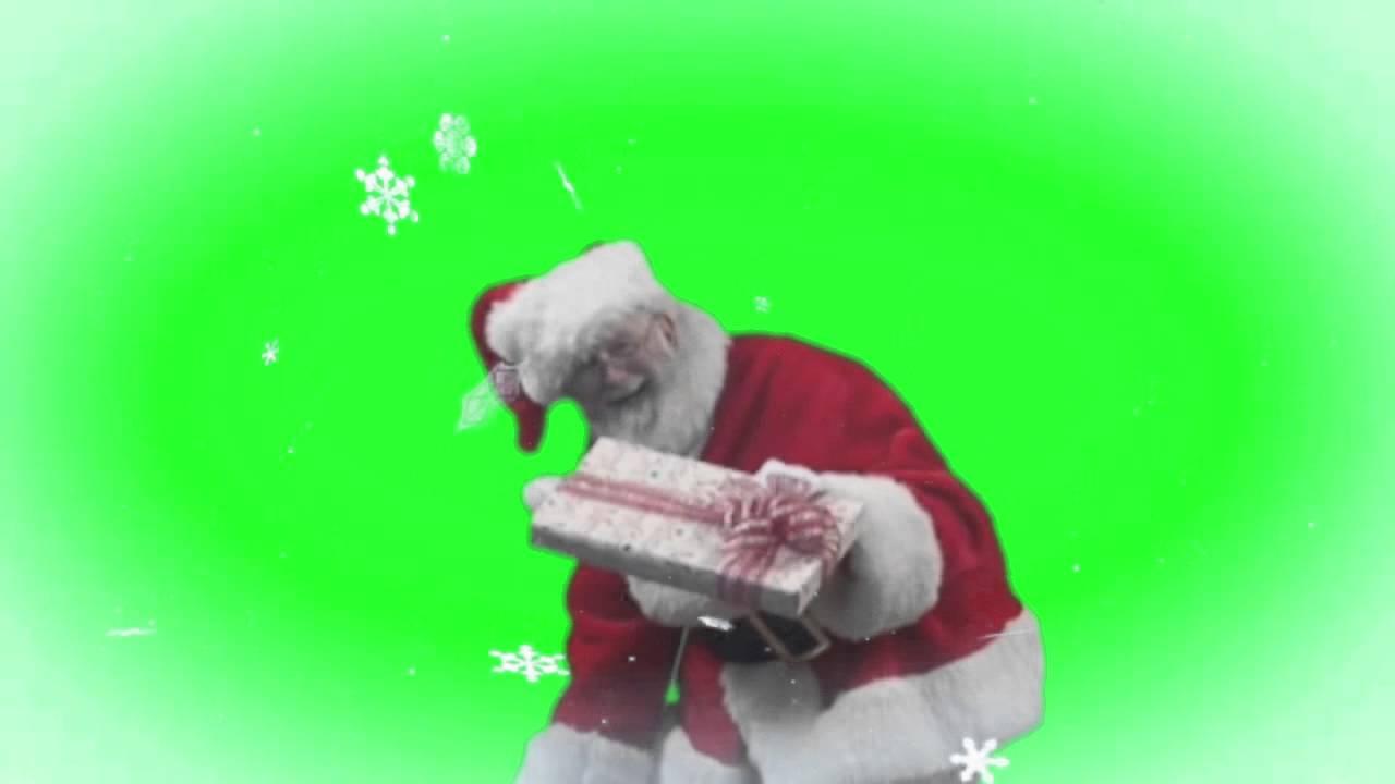 Real Santa Green Screen
