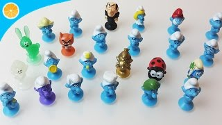 New Lidl stikeez Smurfs The lost village Smurfs full collection album blue orange